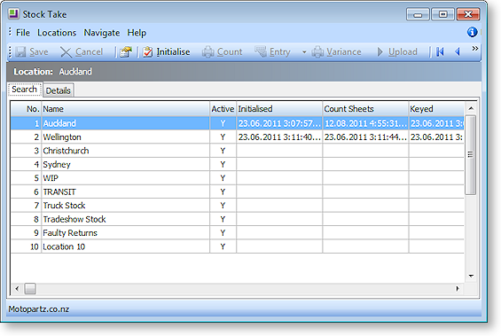 Stocktake Search Create Chart On Form Report